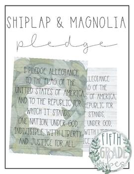 Shiplap + Magnolia Pledge of Allegiance