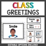Morning Greeting Choice Cards