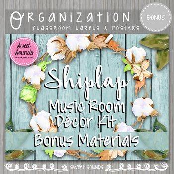 Music Room Decor - Bonus Set Posters - Shiplap
