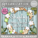 Shiplap Music Room Decor Kit Turquoise