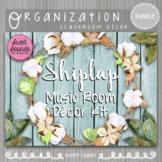 Music Decor Kit - Turquoise Shiplap