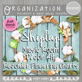 Shiplap Music Room Recorder Charts and Note Value Posters