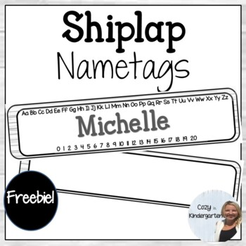 Shiplap Nametags
