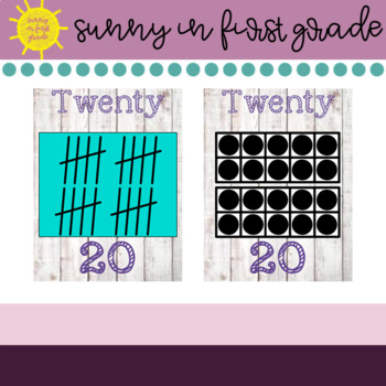 Shiplap Number Posters 0-20