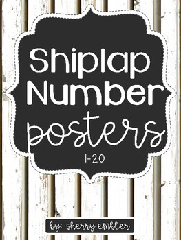 Shiplap Number Posters 1-20