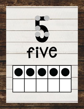 Shiplap Number Posters {Farmhouse Classroom}