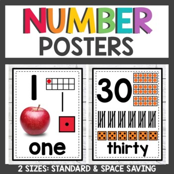 Farmhouse Class Decor Number Posters with Real Pictures