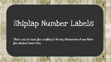 Shiplap Numbers for Target Adhesive Labels