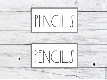 Shiplap Pencil Cup Labels
