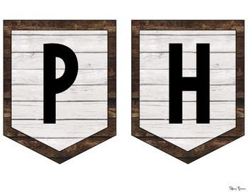 Shiplap Pendant Banners {Farmhouse Classroom}