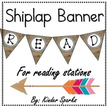 Shiplap READ Banner -Classroom Decor