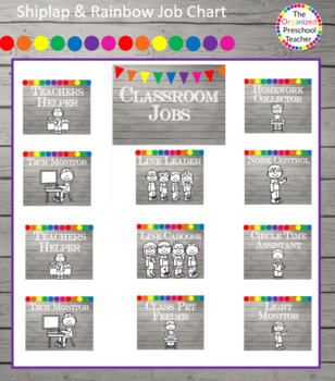 Shiplap & Rainbow Hanging Job Chart