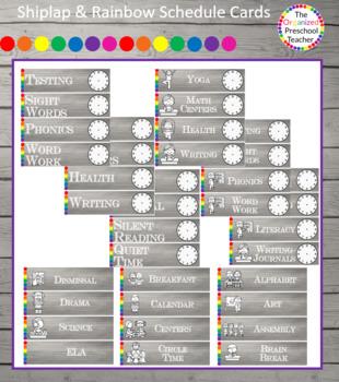 Shiplap & Rainbow Schedule Cards