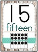 Shiplap Rustic Wood Number Poster Set