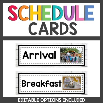 Shiplap Schedule Cards with Real Photos