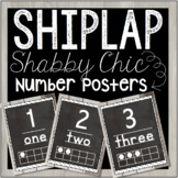Shiplap Shabby Chic / Farmhouse Number Posters (#1 - 20)