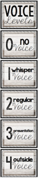 Shiplap Shabby Chic Voice Level Posters -- 4 Designs to Choose From!