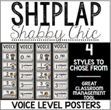 Shiplap Shabby Chic Voice Level Posters -- 4 Designs to Ch