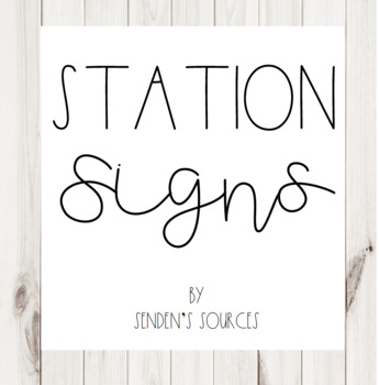 Shiplap Station Signs