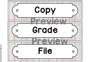 Shiplap Sterilite Drawer Labels