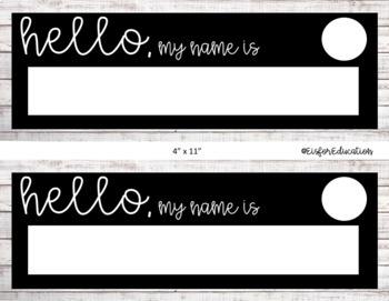 EDITABLE Shiplap Student Name Tags/Desk Name Plates