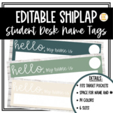 EDITABLE Shiplap Name Tags - 4 sizes [Can Fit ALL Target D