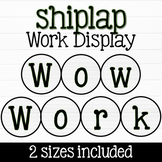 Shiplap Student Work Bulletin Board