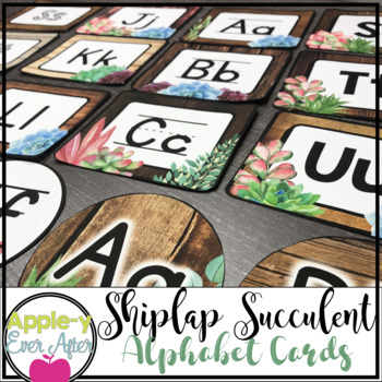 Shiplap Succulent - Word Wall & Editable Labels