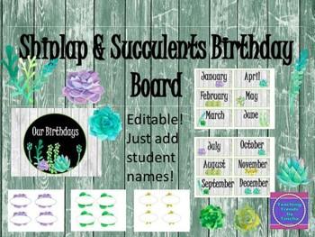 Shiplap & Succulents Huge Bundle/ Classroom Decor