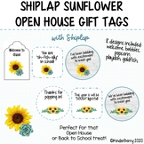 Shiplap Sunflower & Succulent Open House Back to School Gift Tags