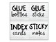 Shiplap Supply Labels - Fits Target Adhesive Squares
