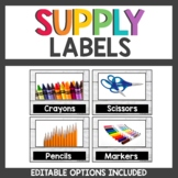 Farmhouse Class Decor Supply Labels