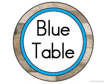 Shiplap Table Labels