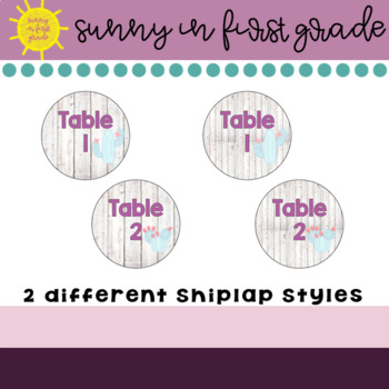 Shiplap Table Numbers