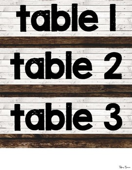 Shiplap Table Numbers {Farmhouse Classroom}
