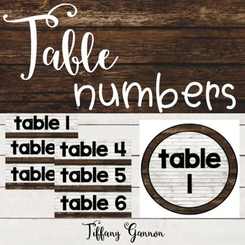 Shiplap Table Numbers {Farmhouse Classroom}