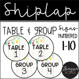 Shiplap Table and Group Signs