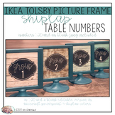 Shiplap Teal Wood - Tolsby Frame Table Numbers