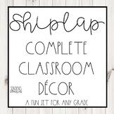Shiplap Theme Complete Classroom Decor Editable Bundle