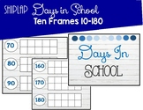 Shiplap Themed Days in School Counting With Ten Frames