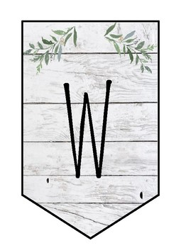 Shiplap WELCOME Banner