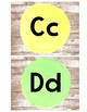 Shiplap Watercolor Alphabet