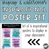 Shiplap & Watercolor Inspirational Poster Set