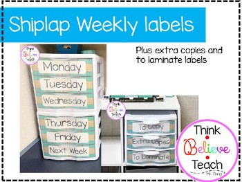 Shiplap Weekly Labels