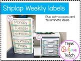 Shiplap Weekly Labels