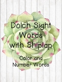 Shiplap Word Wall - Dolch Sight Words