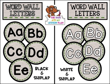 Shiplap Word Wall Letters (2 Versions)