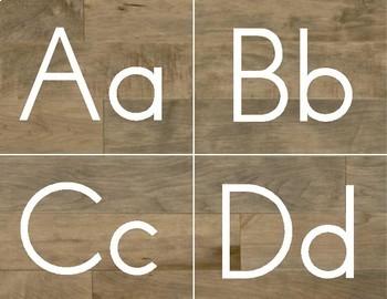 Shiplap Word Wall Letters