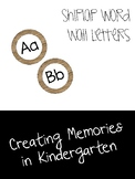 Shiplap Word Wall Letters