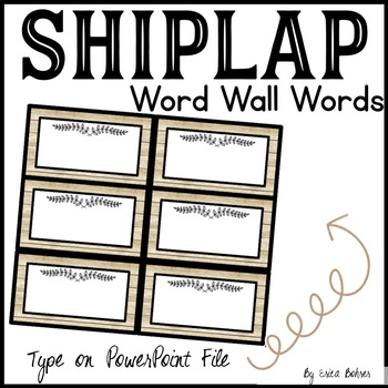 Shiplap Word Wall Word Cards